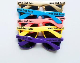 Custom Bachelorette Party Wayfarer Wedding Sunglasses