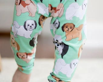 Handmade Baby Leggings - Shih-Tsu Baby Leggings - Shih-Tsu - Baby Leggings - Boy Leggings- Girl Leggings - Shih-Tsu Gift - Dog Leggings