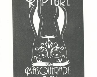 Rapture Masquerade Ball - Linocut