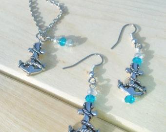 Anchor Necklace,Anchor Jewelry,Anchor Earring,Sailor Anchor Earrings,Nautical Earrings,Beach Earrings,Nautical Anchor jewelry,Anchor Anklets