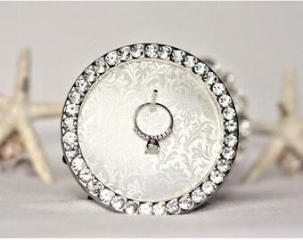 Ring Holder, Wedding Ring Holder, Engagement Ring Holder, Sparkly Ring Holder, Engagement Gift, Wedding Gift, Ring Holder Frame, Engagement