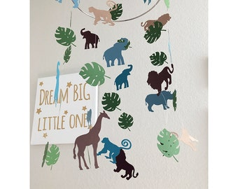 Safari Baby Mobile - Safari Nursery - Safari Nursery Decor - Baby Mobile - Baby Shower Gift - Jungle Baby Mobile - Jungle Baby Shower