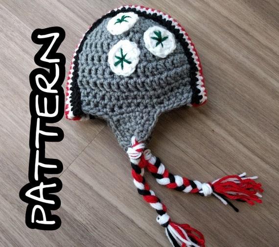Crochet PATTERN OSU Football Helmet Hat Size Newborn To 6