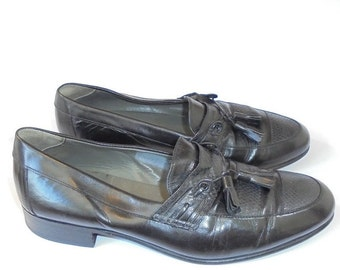 Vintage Mens Shoes, Black Leather Shoes, Mens Dress Shoes, Australian Made