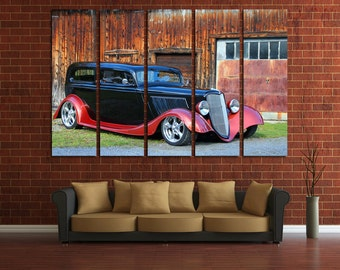 Hot Rod Wall Art Multi Panels Set Roadster Wall Art Cars Canvas Art Muscle Cars Wall Art Custom Roadster Wall Decor Canvas