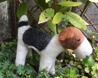 Handmade 100% wool FOX TERRIER