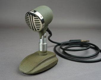 Microphone, Oktava microphone, retro microphone, vintage microphone, grey, vintage audio, microphone USSR, Soviet microphone, Oktava