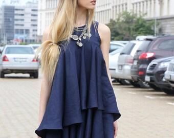 Linen Tunic, Black Linen Dress, Linen Tank Dress, Linen Dress Woman, Oversized, Linen Oversized Dress, Layered Dress, Summer Tunic Top