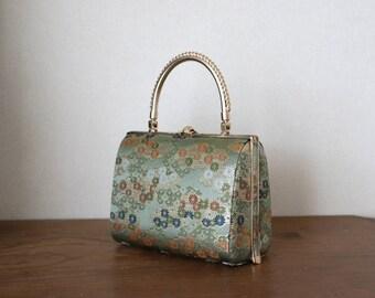 Vintage Japanese Kimono Handbag /// Kimono Handbag, Gorgeous Kimono bag, Luxury bag, Japanese Handbag, Vintage Kimono handbag