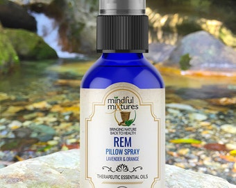 REM, Lavender & Sweet Orange Pillow Spray, Linen Spray, Aromatherapy Room Spray
