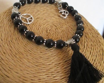 Beautiful black tourmaline bracelet.