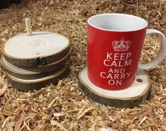 Coaster set, tree ring wooden coasters, tea, coffee, wine