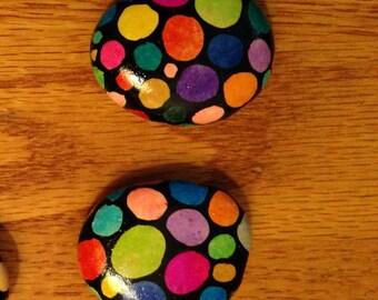 Rainbow Stone Magnet Set