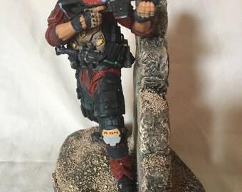 TitanFall 2 Titan soldier action figure diorama