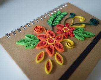 Diary- Quilling art- Mother's Day Present- Birthday Present