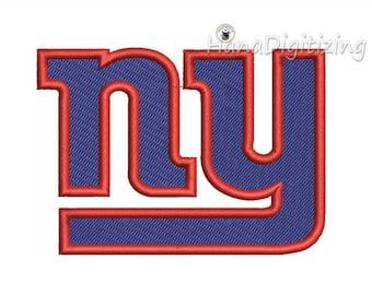 New York Giants Logo Machine Embroidery Design 3 Sizes