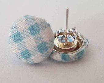 Studs checkered fabric