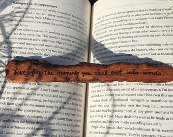 Handmade Wooden Bookmark, Gifts for Readers