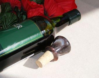 bottle stopper resin handmade gift, unique gift, oneoff present, cork,wine bottle,