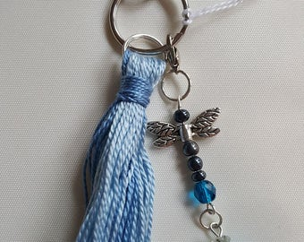 Blue Dragonfly Purse Charm