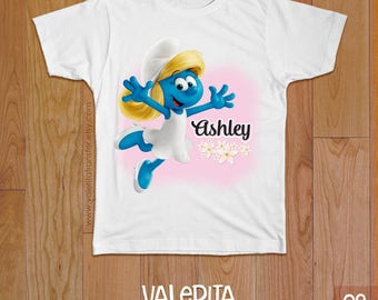 Smurfs Birthday Shirt, Smurffete Shirt,  Smurfs Iron on, Smurfs Iron on transfer, Smurfs Digital Download, Smurfs Shirt Transfer, Smurf