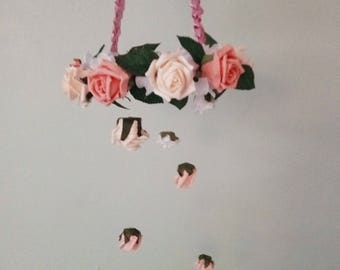 Flower Mobile Chandelier Handmade