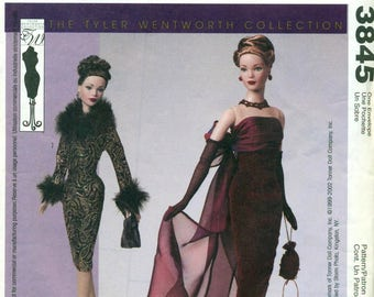 McCall's 3845 Tyler Wentworth Collection GENE DOLL Evening Clothes Pattern ©2002