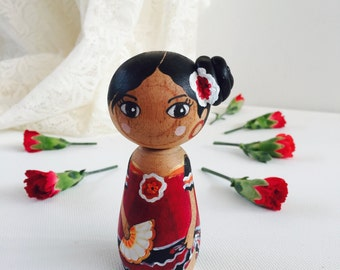 Culture of the World / Children of the World Wooden Peg Doll
