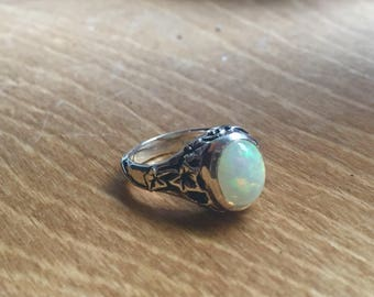 Opal and Sterling Silver- The Ivy Ring