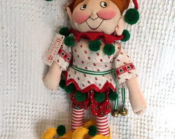 Vintage Mary Engelbreit Elf Doll - From House of Hatten - 12 Inches Tall and So Cute with all the ME bells and whistles