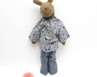 May Bunny, hand knit bunny rabbit, handmade