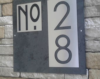 Modern House Numbers Mid Century Address Sign
