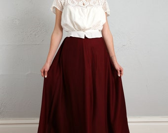 SALE- Antique Wool Skirt . 1900