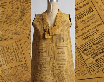 SALE- 1967 Real Paper Dress Yellow Pages Collectors Item