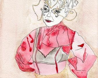 Bjork Vulnicura Watercolor Illustration Art Print