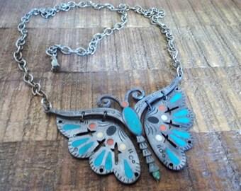 Vintage Celebrity Butterfly Necklace