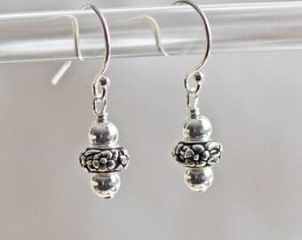 Woodland Earrings - Silver Earrings - Small Earrings - Sterling Silver Earrings - Everyday Earrings - Simple Earrings - Flower Earrings