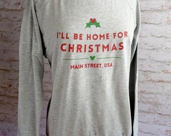 I'll be home for christmas shirt, disney sweatshirt, disney shirt, home for the holidays, disney vacation shirt, very merry christmas