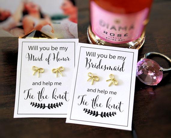 Bridesmaid Proposal Gift Ask Bridesmaid Help Me Tie The
