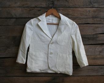 SUPER SALE - Vintage Children's Winter White Blazer