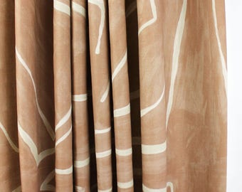 Kelly Wearstler Graffito Drapes (Shown in Salmon/Cream-comes in 5 colors)