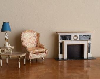 Vintage (4) Piece Set Petite Princess Fantasy Dollhouse Furniture Living Room Set / IDEAL