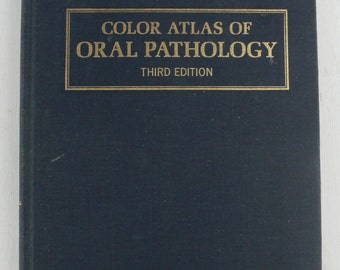 vintage dental textbook, A Color Atlas of Oral Pathology, 1971, free shipping, from Diz Has Neat Stuff