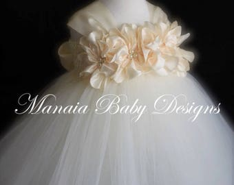 COLOR OF DRESS Can Be Changed! / Ivory Flower Girl Dress / Ivory Flower Girl Tutu / Ivory Dress
