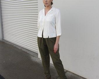Silk top Vintage silk blouse