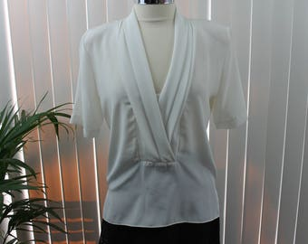 Vintage Blouse Secretary Size 10 Prophecy White