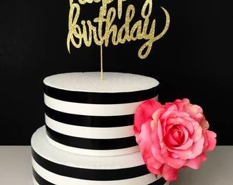 Happy birthday cake topper- birthday cake topper