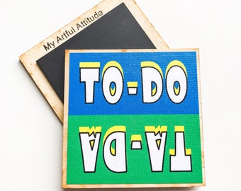 To-Do Ta-Da Fridge Magnet, Chore Magnets, Reminder, Mom Organizing, Office Gift, Completed Projects