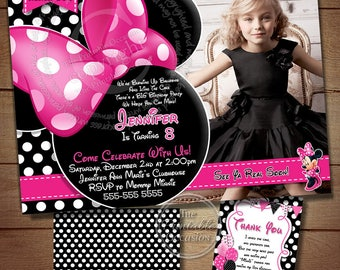 MINNIE MOUSE INVITATION, Polka Dot Invitation, Printable Invitation,Invitation, Polka Dot, Invitation
