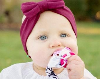 Burgundy Headband, Big Bow Headband, Baby Bows Headband, Wine Bow Headband, Baby Headband, Hair Bows, Baby Girl Headband, Girl Hair Bow